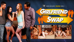Girlfriend Swap - VR Orgy With Horny Sluts VR3000 Katy Kiss Megan Sage VR porn video vrporn.com