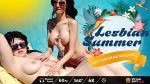 Lesbian Summer Hot Sunscreen Massage VirtualPorn360 vr porn video vrporn.com virtual reality