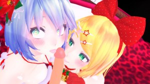 Vocaloids - Xmas Special Present CGI Girl Lewd FRAGGY vr porn video vrporn.com virtual reality