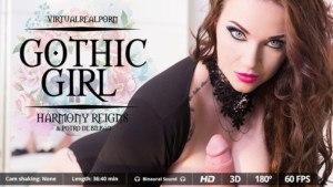 Gothic Girl VirtualRealPorn Harmony Reigns vr porn video vrporn.com virtual reality