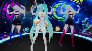 Racing Girl Miku Clothing Optional Dance on Turn Table VRAnimeTed vr porn game vrporn.com virtual reality