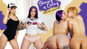 Sharing is Caring VRLatina Beatriz Lopez Natasha Teen vr porn video vrporn.com virtual reality