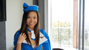 Sex With A Sexy Asian Air Stewardess - Join the Mile-High Club vr bangers vr porn blog virtual reality