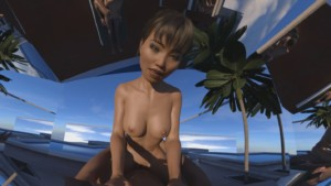 Mirrors By The Pool (CGI Ray-Traced Hentai Cowgirl POV) SkinRays vr porn video vrporn.com virtual reality