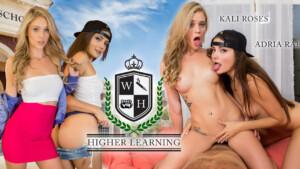 Higher Learning WANKZVR Adria Rae Kali Roses vr porn video vrporn.com virtual reality